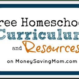 Free Homeschool Curriculum and Resources on Money Saving Mom