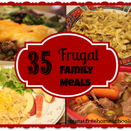 35 Frugal Family Meal Ideas