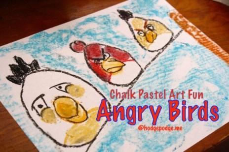 Free Angry Birds Chalk Pastel Tutorial