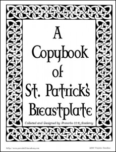 Free Blessings and St. Patrick's Breastplate Copybooks