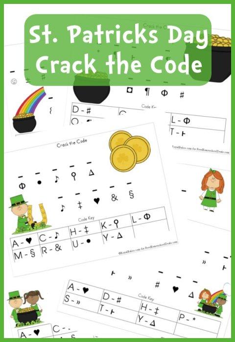 Free Worksheets St Patricks Day Crack The Code Printable Set