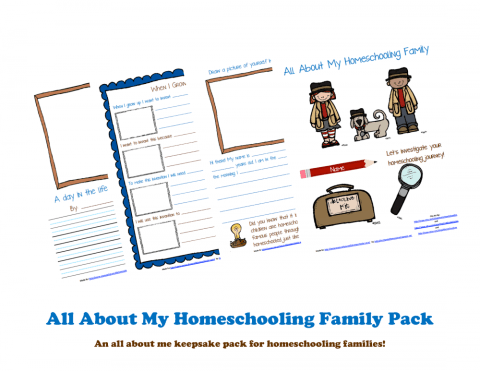 Free All About My Homeschooling Family Printable Pack