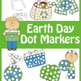 Free Earth Day Dot Marker Set (16-Pages)