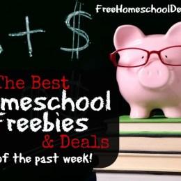 The BEST Homeschool Deals & Freebies of the Past Week {eBooks, printables, webinars, audio downloads and more!}