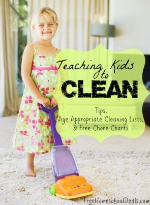 teaching kids to clean