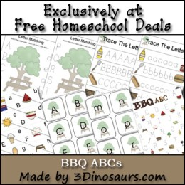 Free BBQ ABC Printable Pack (33-Pages!)