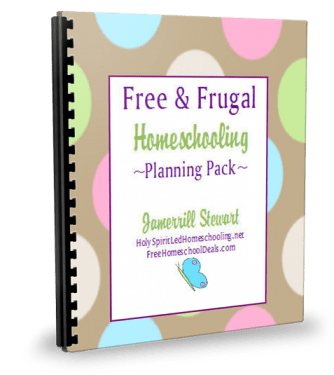free and frugal homeschool planning pack