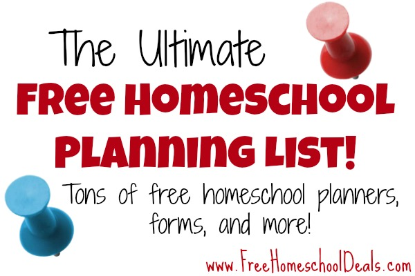 free homeschool planners