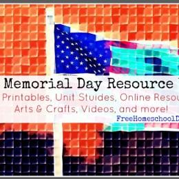 Free Memorial Day Homeschool Resources