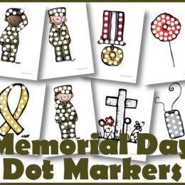 Free Memorial Day Dot Marker Printable Set