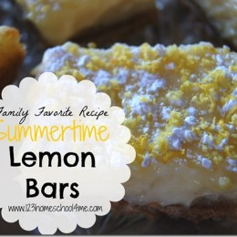 Summertime Lemon Bars