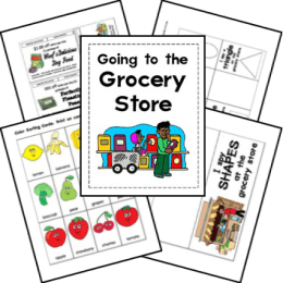 Free Grocery Store Lapbook Printables
