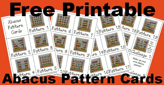 Free Printable Abacus Pattern Cards