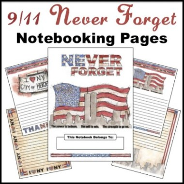 9/11 Never Forget Notebooking Pages