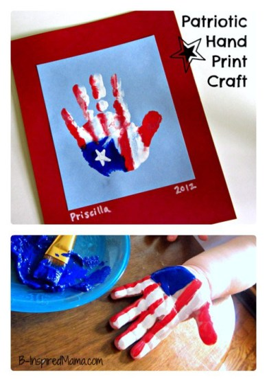 Patriotic Handprint Craft