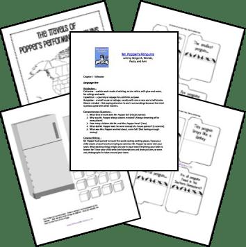 Free Mr. Popper's Penguins Unit and Lapbook Printables