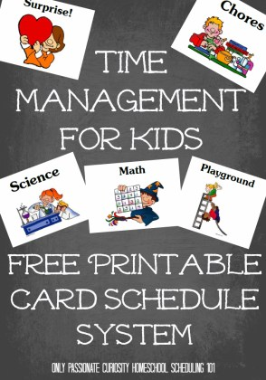 Free Homeschool Time Management Printables for Kids