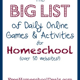 The BIG LIST of 50+ Free Online Games and Activities for Homeschool Students