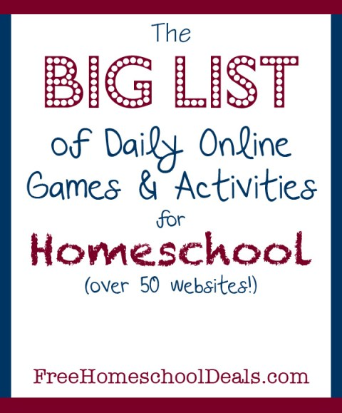 50+ Free Online Games and Activities for Homeschool Students | Free ...