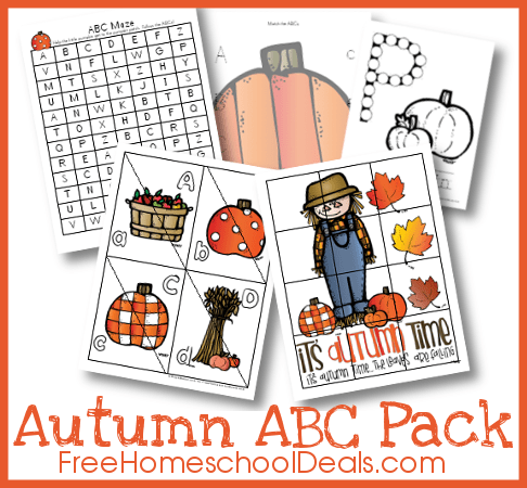 Autumn ABC Pack created by Royal Baloo for Free Homeschool Deals