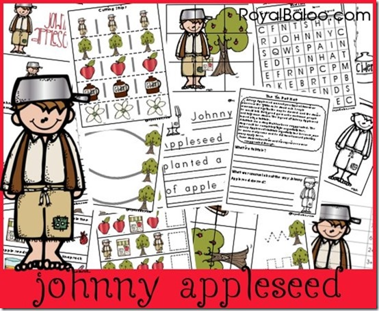 free johnny appleseed unit study and printables