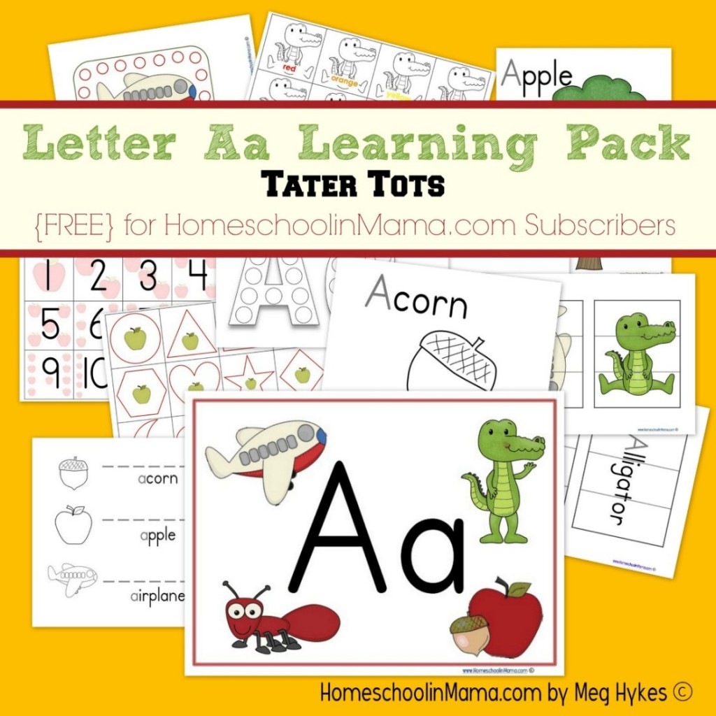 Free Letter Aa Learning Worksheet Pack Subscriber Freebie