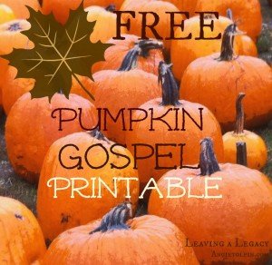 Free Pumpkin Gospel Printable