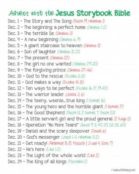 Free Printable The Jesus Storybook Bible Advent Reading Plan