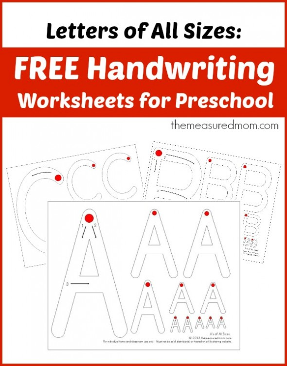 free preschool handwriting worksheets free homeschool deals. Black Bedroom Furniture Sets. Home Design Ideas