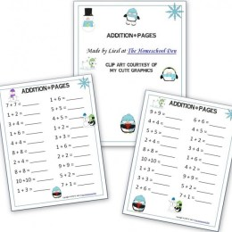 Winter-Themed Addition Pages: Free Worksheets