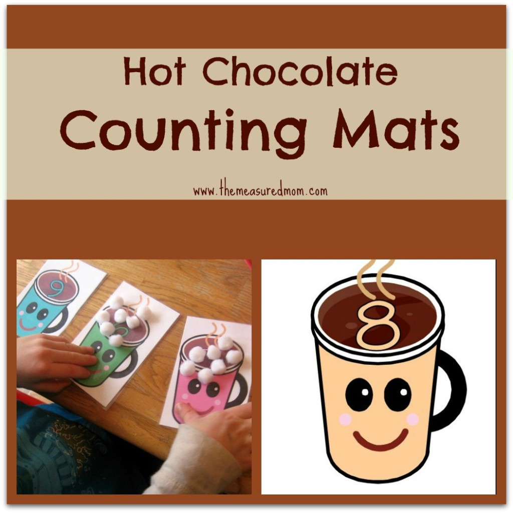 Free Printable Counting Mats Hot Chocolate Math