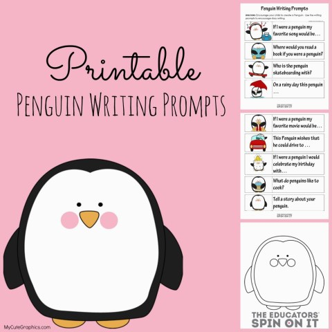 Free Penguin Writing Prompts Worksheets | Free Homeschool Deals ©