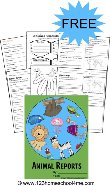 Free Animal Report Form Printables