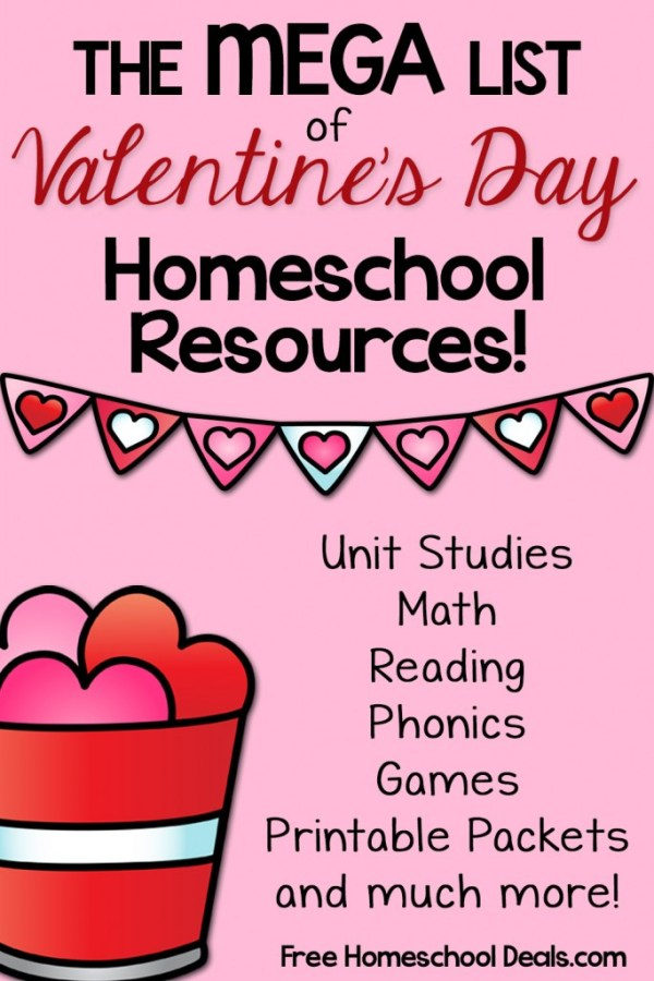 The Mega List of Valentines Day Homeschool Resources