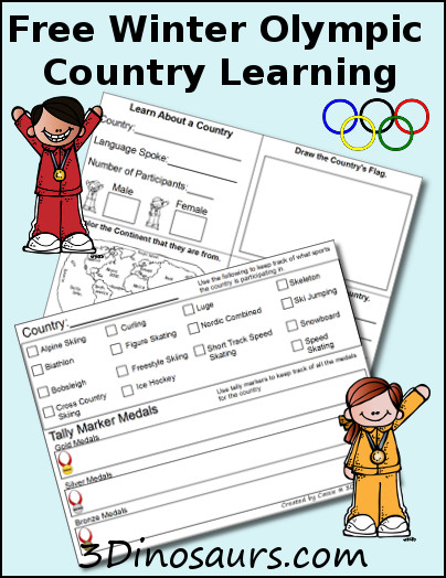 free winter olympics country learning printables free homeschool deals. Black Bedroom Furniture Sets. Home Design Ideas