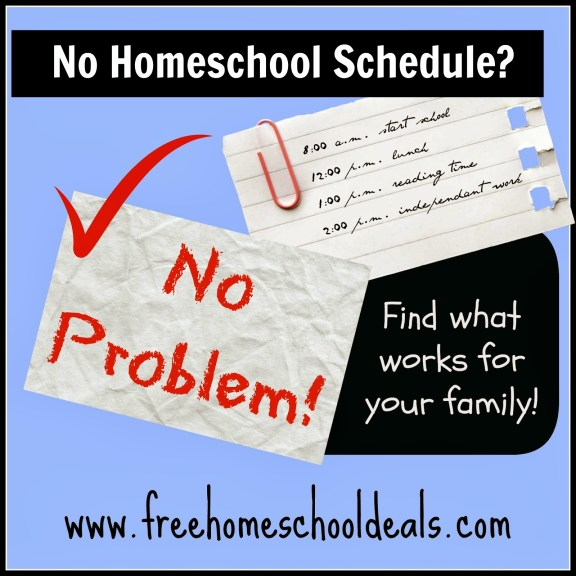 no homeschool schedule