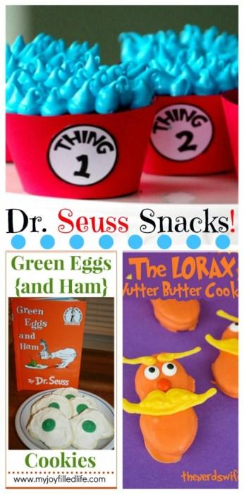 Dr Seuss Snacks
