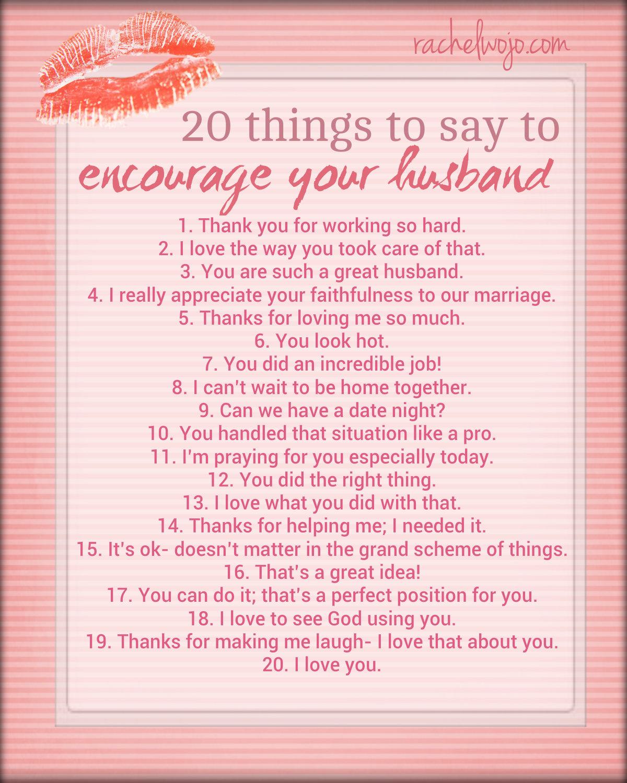 Free Encourage Your Husband Printable