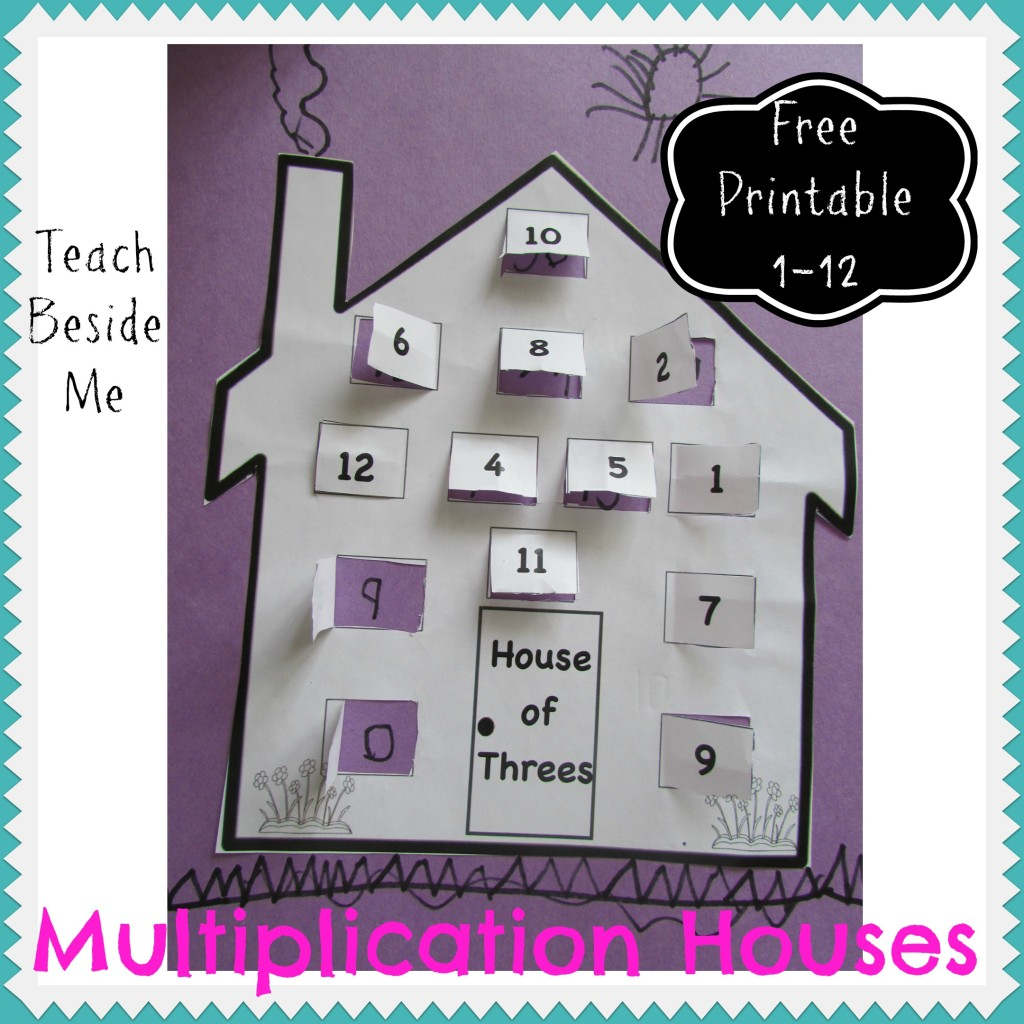 Free Multiplication Math Fact Houses Printable