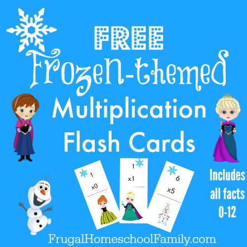Free Frozen-Themed Multiplication Flash Cards | Free Homeschool Deals ©