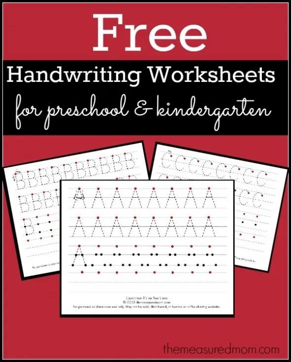 Free Printable Handwriting Worksheets for Preschool ...