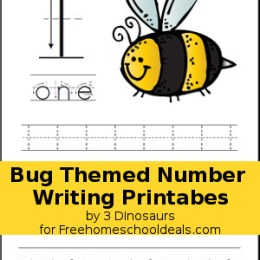 FREE Bug Themed Number Writing Printables
