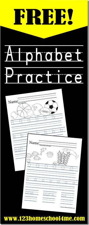 FREE Alphabet Printables for Handwriting Practice  Free Homeschool Deals