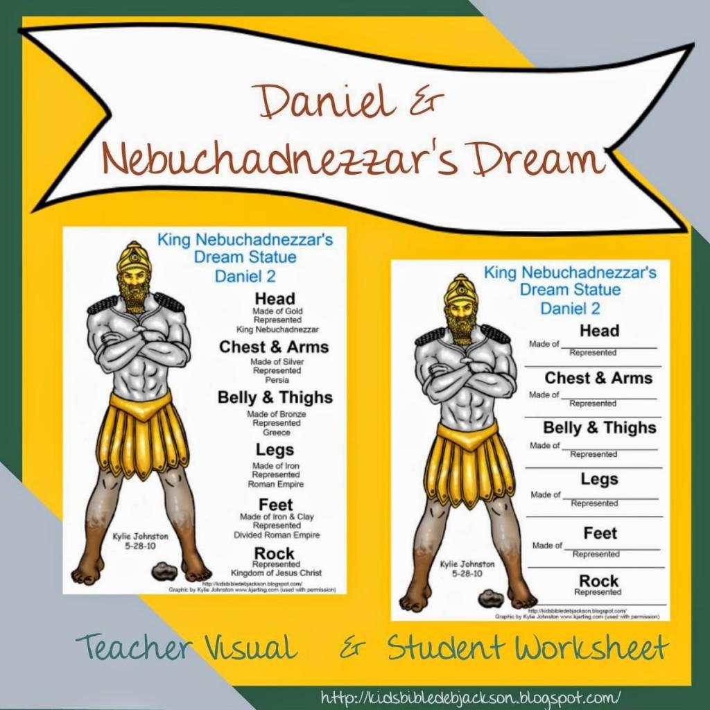 Bible Lesson And Free Printable Daniel Amp Nebuchadnezzar S