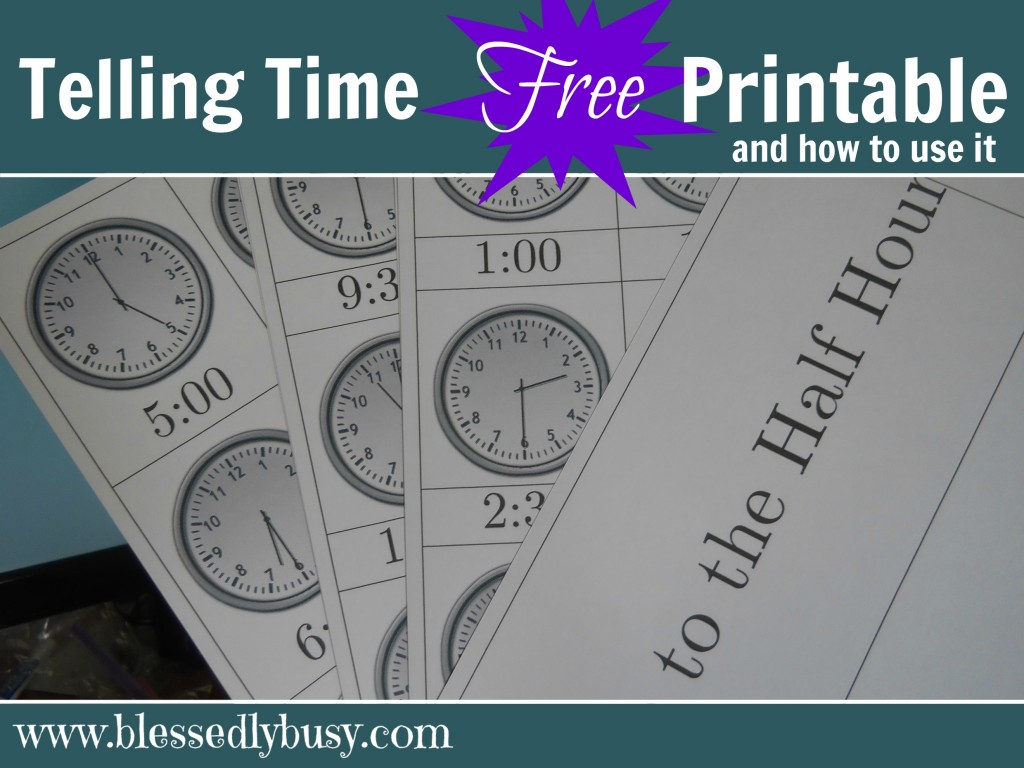 Free Telling Time Cards