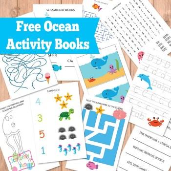 Printable Ocean Activity Books for Kids Free Homeschool Deals