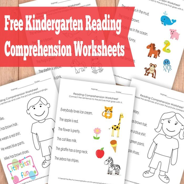 FREE Kindergarten Reading Comprehension Worksheets | Free ...