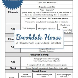 Proofreading and Editing Checklist for Upper Level Students