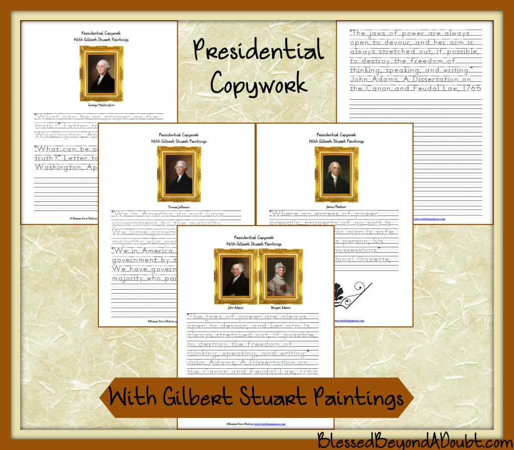 Free Presidential Notebooking Pages