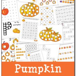 Pumpkin Dot-a-Dot Printables